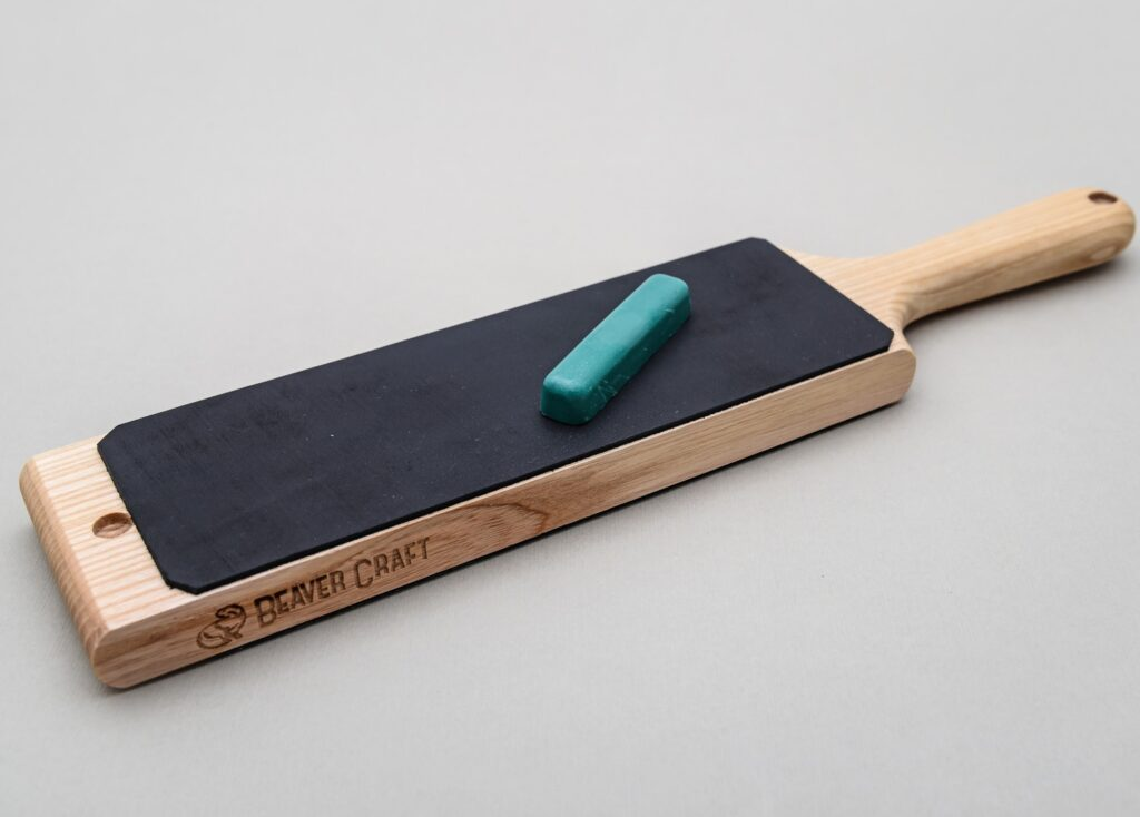 Picture of an example paddle strop - this paddle strop is made by BeaverCraft