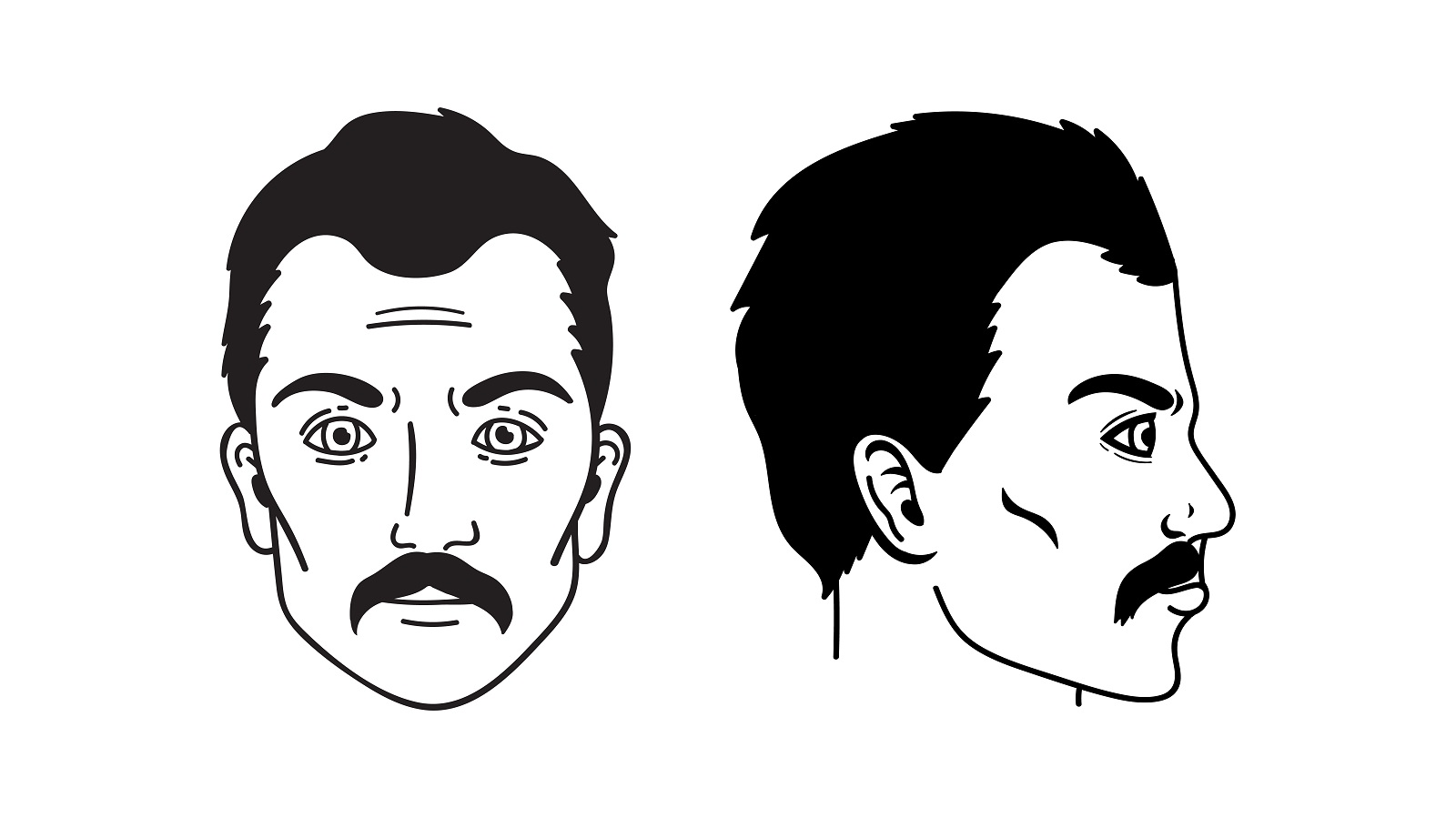The Dallas Mustache, a facial hair style