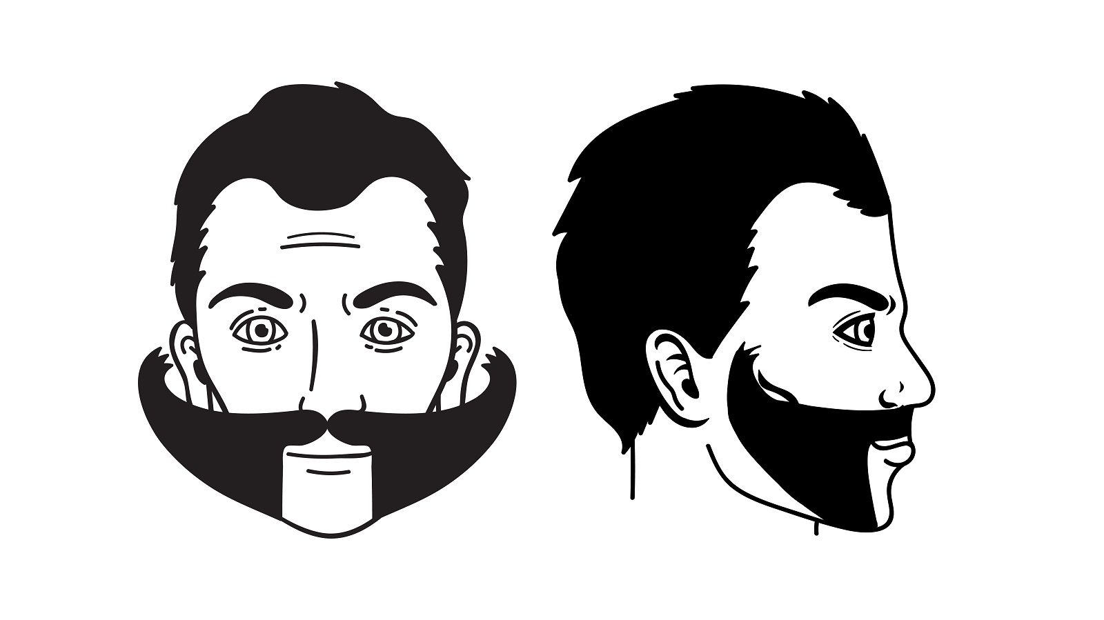 The freestyle mustache, a facial hair style